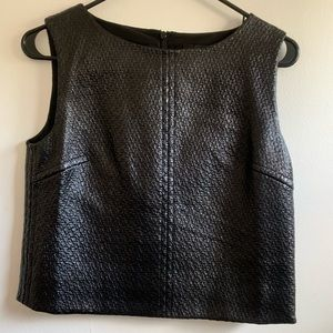 Leather shell tank
